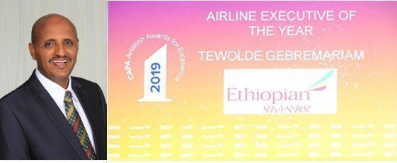 Ethiopian Airlines CEO Tewelde Gebremariam Named 'Airline Executive of the Year'