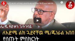 Tsadkan Gebretensae's talks about Abebe Tekele Haymanot, his work