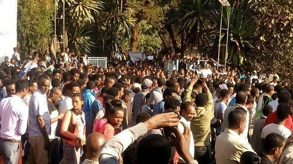 Demonstration _ Ethiopia _ Dembi Dollo University students abduction