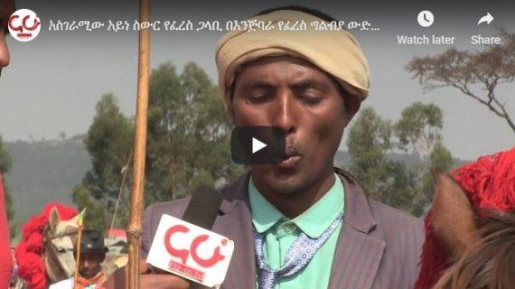 Meet the blind horse racing man in Enjibara,Ethiopia