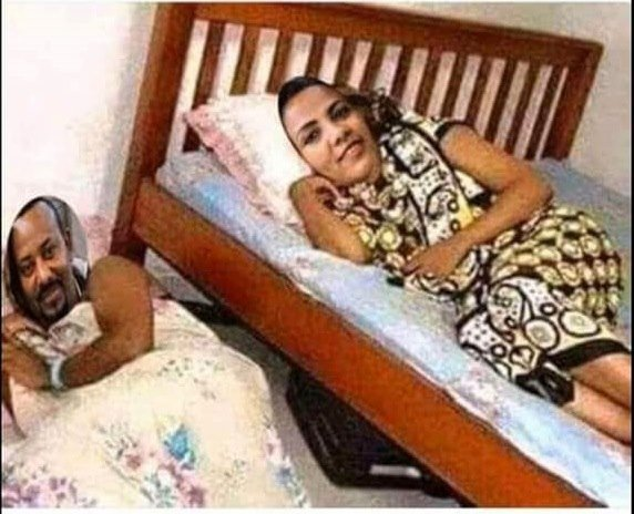 PM Abiy _ wife doctored image in the bedroom