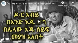 Abiy Ahmed needs to have the law and a sword in hands, Prof. Mesfin