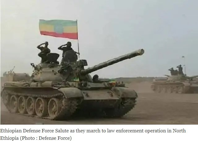 The war imposed on the Ethiopian government