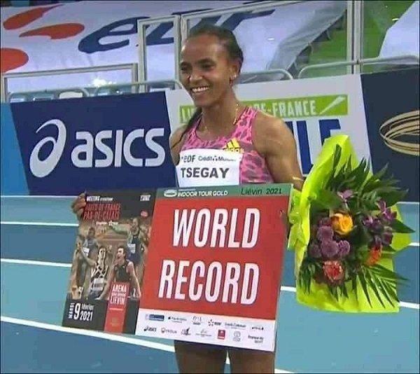 Gudaf Tsegay New World Record Ethiopian Sport News