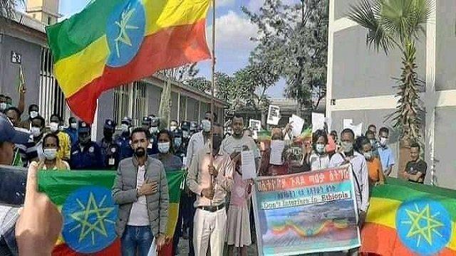 Hands-off Ethiopia  _ Protest